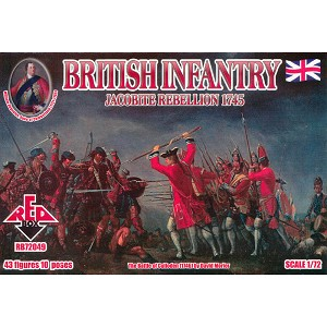 1/72 Jacobite Rebellion British Infantry (Redbox)