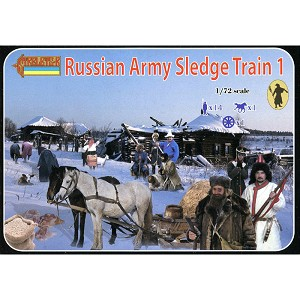 1/72 Napoleonic Russian Army Sledge Train 1 (STR)