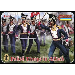 1/72 Napoleonic Polish Infantry in Attack (STR)