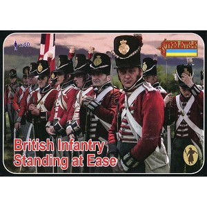 1/72 Napoleonic British Infantry Standing at Ease (STR)