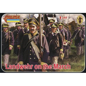 1/72 Napoleonic Landwehr on the March (STR)