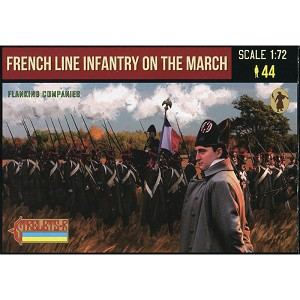 1/72 Napoleonic French Line Infantry on the March 1 (Flanking Companies) (STR)