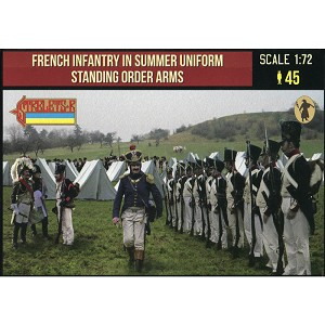 1/72 Napoleonic French Infantry in Summer Uniform Standing Order Arms (STR)