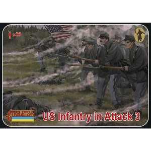 1/72 ACW US Infantry Attack 3 (STR)