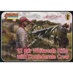 1/72 ACW 12 pdr Whitworth Rifle with Confederate Crew (STR)