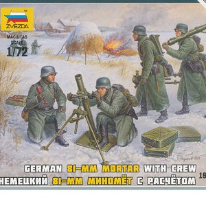 1/72 German 81mm Mortar w/ Crew Box (ZVE)