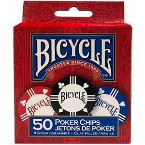 Bicycle Clay Chips (50/set) 8 gram