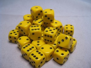 Opaque 12mm Dice w/ Rounded Corners (36 Pk)