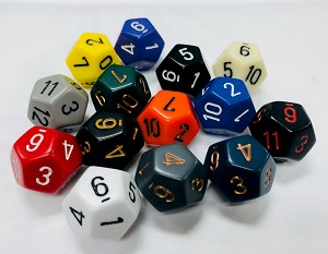 12 Sided Dice (x5)