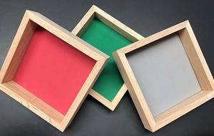 Wooden Dice Tray in Multi Colors