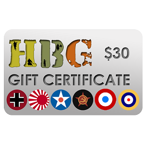 Historical Board Gaming $30.00 Gift Certificate