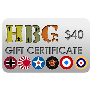 Historical Board Gaming $40.00 Gift Certificate