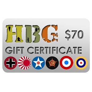 Historical Board Gaming $70.00 Gift Certificate