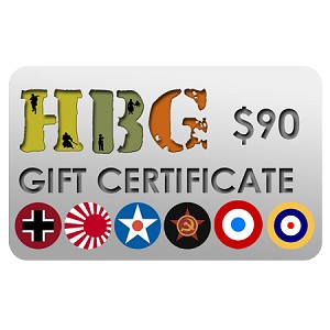 Historical Board Gaming $90.00 Gift Certificate