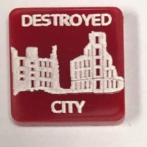 HBG Destroyed City Marker (Acrylic) x5