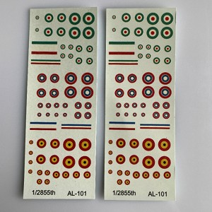 AL-101 Decal Sheet, Allied WW1 Decal Sheets 1/285, 1/300, 6mm Aircraft