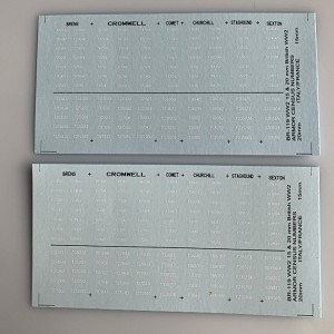 BR-119 Decal Sheets, British Armor Census Numbers