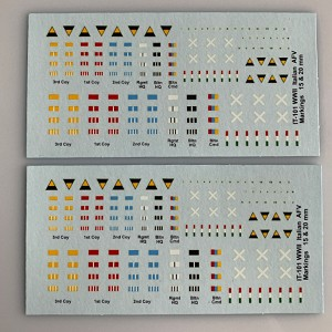 IT-101 Decal Sheet, Italian armor vehicle, company and division markings