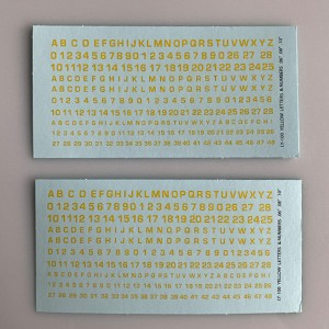 LY-100 Decal Sheet, Yellow  Lettering