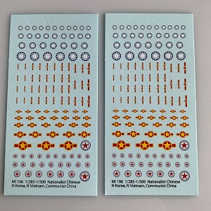 Mi-106 Decal Sheets, Chinese, Korea, Vietnam Insignia
