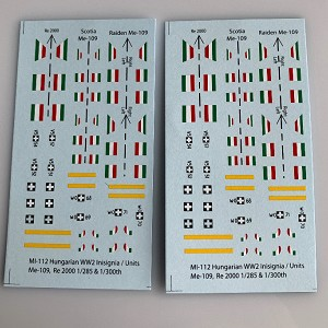 MI-112 Decal Sheet, Hungarian Aircraft Insignia