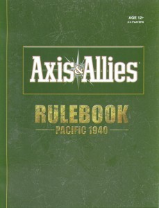 Rules Booklet - Pacific 1940 1st Edition