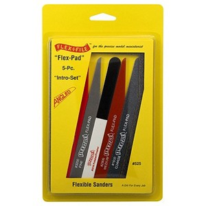 Flex-Pad Set Angled cut Sanding Sticks (5 Different)
